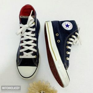 💖OFFERS??💖•Converse• High Cut Navy Blue Sneakers